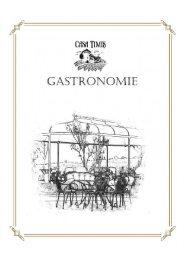 Casa Timis - Meniu Gastronomie Terasa