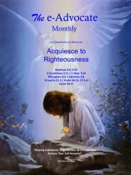 Acquiesce to Righteousness
