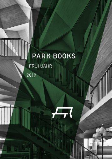 Park Books Vorschau Frühjahr 2019