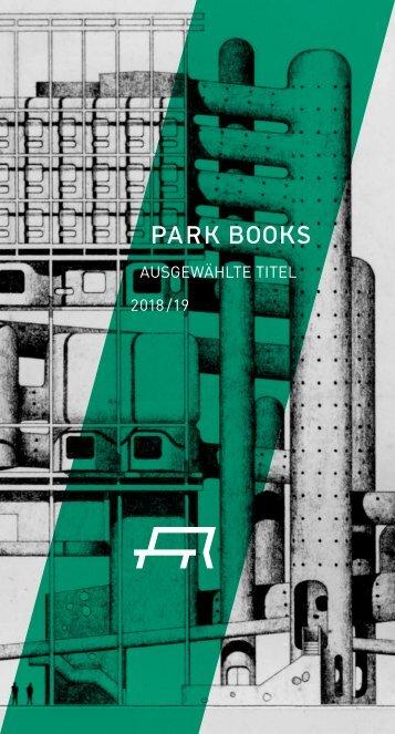 Flyer Ausgewählte Titel 2018/19 Park Books
