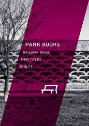 Park Books New Titles Catalog 2018/19