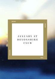January at Devonshire Club