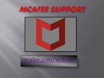 mcafee.com/activate - mcafee activate