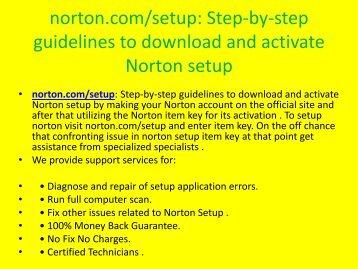 norton.com/ setup - norton antivirus setup & install
