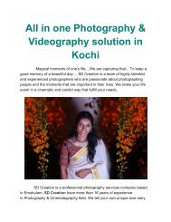All in one Photography & Videography solution in Kochi