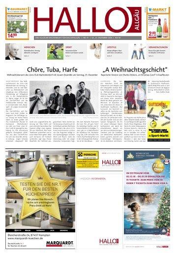 Hallo-Allgäu Kaufbeuren, Ostallgäu vom Samstag, 15.Dezember