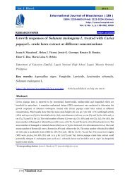 Growth responses of Solanum melongena L. treated with Carica papaya L. crude latex extract at different concentrations
