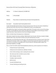 SRU Carpet Cleaning & Water Restoration of Alpharetta