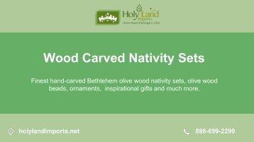Beautiful Wooden Nativity Set