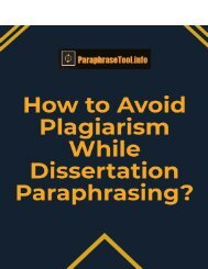 How to Avoid Plagiarism While Dissertation Paraphrasing?