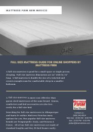 Full Size Mattress Guide for Online Shoppers by Mattress Firm