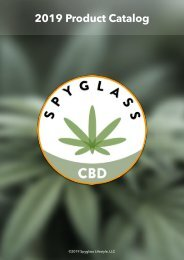Spyglass CBD Product Catalog 2019