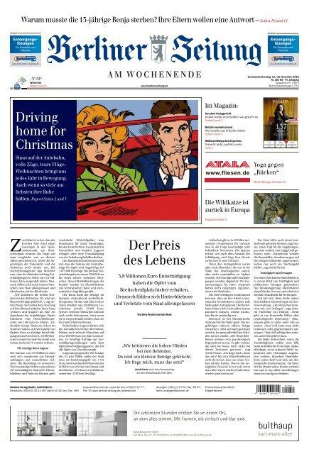 Berliner Zeitung 15 12 2018