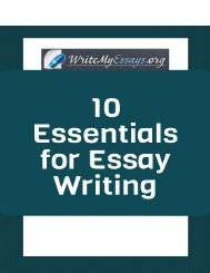 10 Essentials for Essay Writing