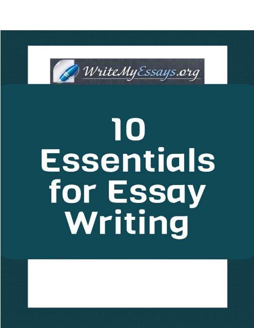 essentials of good essay writing