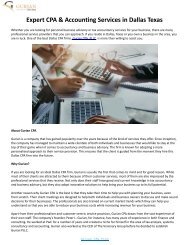 Expert CPA & Accounting Services in Dallas Texas