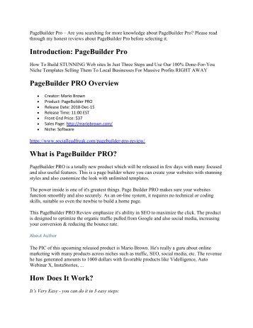 PageBuilder Pro review