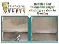 Reliable and reasonable carpet cleaning services in Bromley