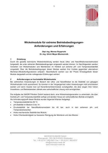 Wickelmodule für extreme Betriebsbedingungen - MICRODYN ...