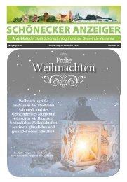 Schönecker Anzeiger Dezember 2018