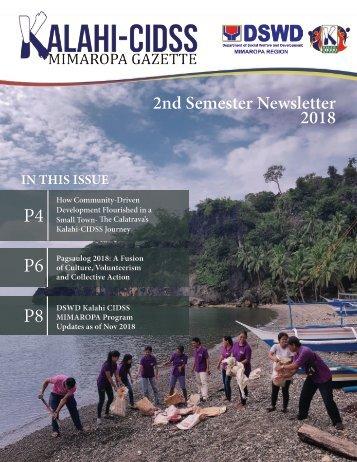Kalahi-CIDSS MIMAROPA Gazette 2nd Semester 2018