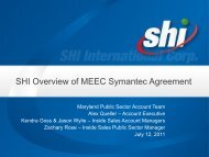 SHI Overview of MEEC Symantec Agreement