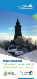 Veranstaltungskalender Januar bis März 2019 für Bad Frankenhausen und Umgebung
