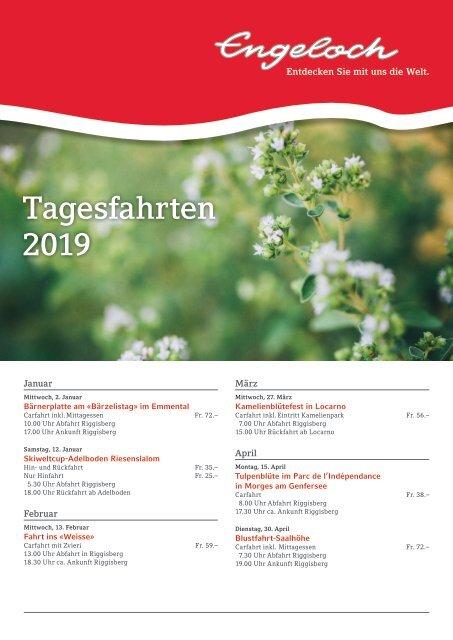 Flyer Tagesfahrten Sommer 2019