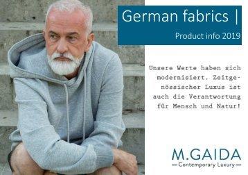 German fabric info 2019
