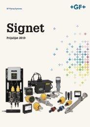 (BE) Prijslijst Signet 2019