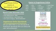 Sugarhouse Online Casino & Sportsbook in New Jersey