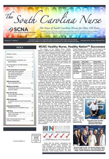 The South Carolina Nurse - December 2018