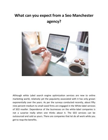What can you expect from a Seo Manchester agency_