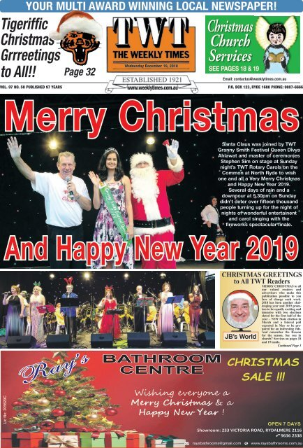The Weekly Times - TWT - 19th December 2018
