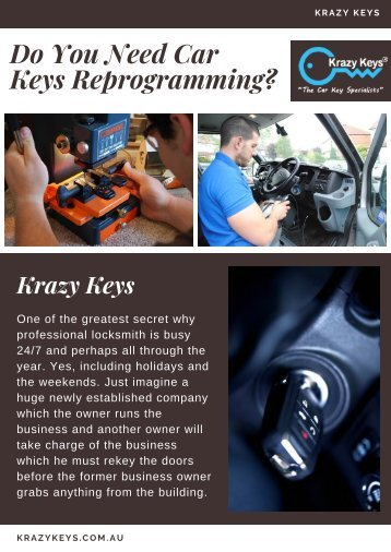 What You Should Be Aware Of Before Car Keys Reprogramming?