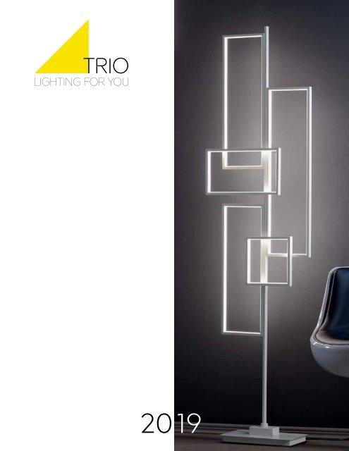 Cromato Trio Leuchten Trio 377610106 Sandro Lampadario LED Paralume in Acrilico Unica Bianco 24 W