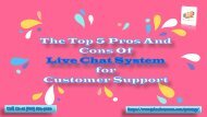 The Top 5 Pros And Cons Of Live Chat System For Customer Support