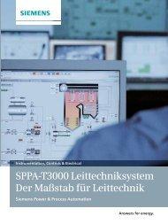 SPPA-T3000 Leittechniksystem - Der Maßstab für ... - Siemens