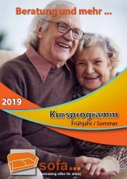 SOFA-Programm Frühjahr-Sommer 2019