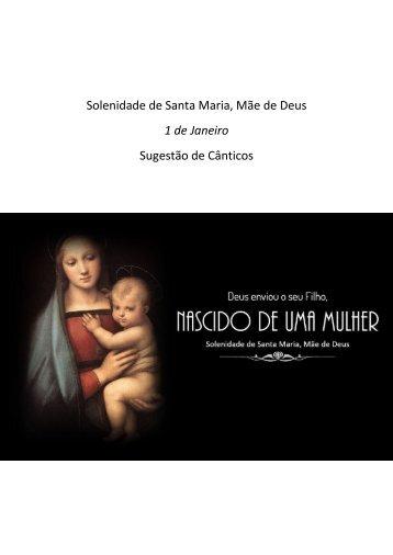 NATAL - Solenidade de Santa Maria, Mãe de Deus