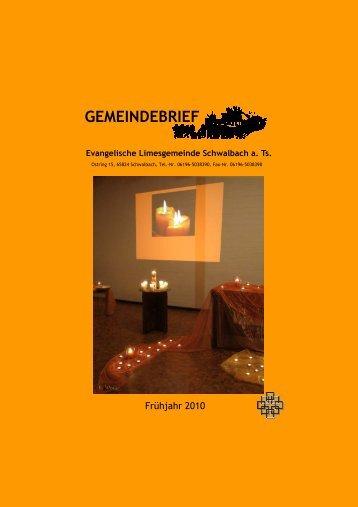 Gemeindebrief Frühjahr 2010.pub - Limesgemeinde
