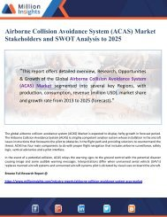 Airborne Collision Avoidance System (ACAS) Market Stakeholders and SWOT Analysis to 2025