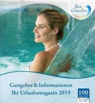 Urlaubsmagazin Bad Gögging 2019 - Gastgeber & Informationen