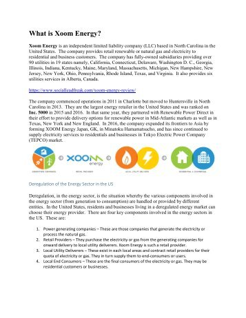 What is Xoom Energy