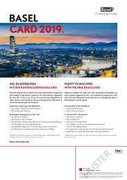 Trägerblatt BaselCard