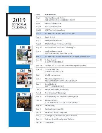 CBJ 2019 Editorial Calendar