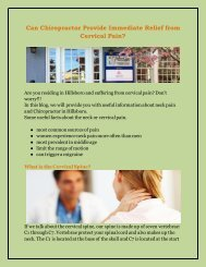 Can Chiropractor Provide Immediate Relief from Cervical Pain