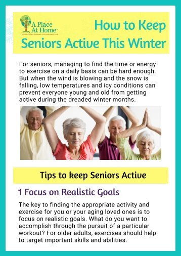 Five Useful Ways to Keep Seniors Active This Winter By A Place At Home