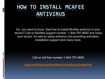How to Install McAfee Antivirus