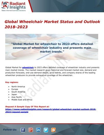 Global Wheelchair Market Status and Outlook 2018-2023